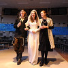 Kali Zack, center, Tzeitel, walks with Austin Baltzer, left, Tevya, and Hannah Tripp, Golde, for the waedding ceremony during rehearsal of  Broomfield Heights Middle School production of Fiddler on the Roof on Thursday.<br /> <br /> March 15,  2012 <br /> staff photo/ David R. Jennings