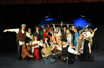 The cast of Broomfield Heights Middle School production of Fiddler on the Roof on Thursday.  March 15,  2012  staff photo/ David R. Jennings
