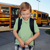 Davis Baun smiles as he poses for a picture on the first day of school at Mountain View Elementary School on Wednesday. <br /> <br /> August 19, 2009<br /> staff photo/David R. Jennings