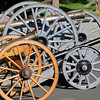 Skip Stansbury's  hand made cannons and mortars on display at his home in Westlake on Saturday.<br /> <br /> Sept. 26, 2009<br /> Staff photo/David R. Jennings