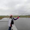 Mariah Perez, 11, casts off of the dock during Saturday's Fishing Derby at Tom Frost Reservoir.<br /> May 12, 2012 <br /> staff photo/ David R. Jennings