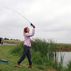 Layla Clark, 13, casts her line from the shore of Tom Frost Reservoir during Saturday's Fishing Derby.<br /> May 12, 2012 <br /> staff photo/ David R. Jennings