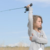 Emmy Hoeben, 9, gets ready to cast her line during Saturday's fishing derby at Tom Frost Reservoir  sponsored by the Broomfield Open Space Foundation in cooperation with the Colorado Division of Wildlife and the City and County of Broomfield.<br /> May 7, 2011<br /> staff photo/David R. Jennings