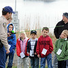 John Koehler, District Wildlife Manager, talks to children about how to use a fishing pole and safety rules during the Fishing Derby sponsored by the Colorado Division of Wildlife and Broomfield Open Space Foundation at Tom Frost Reservoir on Saturday<br /> May 14, 2010<br /> Staff photo/ David R. Jennings