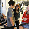 Jay Williams, 18, left, Juli Williams, 17, and Savana Hamilton, 16, all from Arvada, were first in line for the opening of Forever 21 store at FlatIron Crossing mall on Saturday. They camped out since 6 a.m. Saturday morning ahead of over 370 other people. The first 200 received gift cards ranging from $10 - $210. Hamilton said that it was worth the wait to beable to get free cloths with a gift card from her favorite store.<br /> <br /> August 1, 2009<br /> staff photo/David R. Jennings