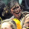Holy Family fan Ania Plonski dressed as a tiger to watch the 3A state championship game against Eaton on Saturday at Moby Arena in Ft. Collins.<br /> March 12, 2011<br />  staff photo/David R. Jennings