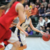 Stephanie Giltner, Holy Family dribbles the ball down court agianst Eaton during the 3A state championship game at Moby Arena in Ft. Collins  on Saturday.<br /> March 12, 2011<br />  staff photo/David R. Jennings