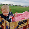 Maggie Scoles, 1, rides in a wagon during  the bike parade at Broomfield's Great American Picnic at County Commons Park.<br /> <br /> July 4, 2009<br /> staff photo/David Jennings