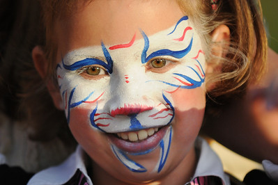 Kyra Harrell, 8, had her face decorated during Broomfield's Great American Picnic at County Commons Park.  July 4, 2009 staff photo/David Jennings