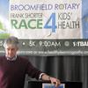 Frank Shorter listens during the kick-off conference for the Frank Shorter's Race 4 Kids' Health fundraiser for Healthy Learning Paths at the 1st BankCenter on Thursday.<br /> February 2, 2012<br /> staff photo/ David R. Jennings
