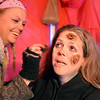 Frightmare Compound actor Cristy Nadelen has boils put on her face by makeup artist Jackie Stemarie before her performance in the haunted house on Friday night.<br /> October 5, 2012<br /> staff photo/ David R. Jennings