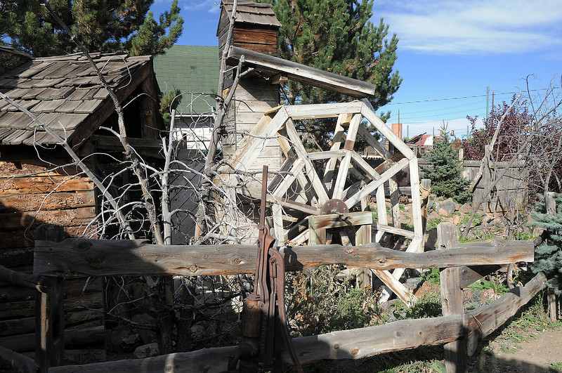 The water wheel in the mining area of the Frightmare house at 108th and Olde Wadsworth on Saturday.<br /> October 15, 2011<br /> staff photo/ David R. Jennings