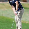 Legacy's Morgan Hoos putts on the 8th hole during the Front Range League golf tournament on Thursday at the Broadlands Golf Course.<br /> <br /> <br /> April 12, 2012 <br /> staff photo/ David R. Jennings