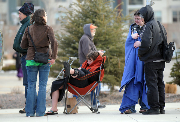 Fans wait in line hours before the Furthur concert on opening night ofthe 1stBank Center on Friday.<br /> <br /> March 5, 2010<br /> Staff photo/David R. Jennings