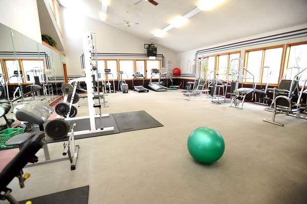 """The workout room in the  Gold Run apartment complex in Boulder.<br /> For a video of Pilling showing off his nice living quarters go to  <a href=""""http://www.coloradodaily.com"""">http://www.coloradodaily.com</a><br /> Photo by Paul Aiken"""