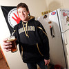 "Keegan Pilling with his beer tap and bar in his Gold Run apartment in Boulder.<br /> For a video of Pilling showing off his nice living quarters go to  <a href=""http://www.coloradodaily.com"">http://www.coloradodaily.com</a><br /> Photo by Paul Aiken"