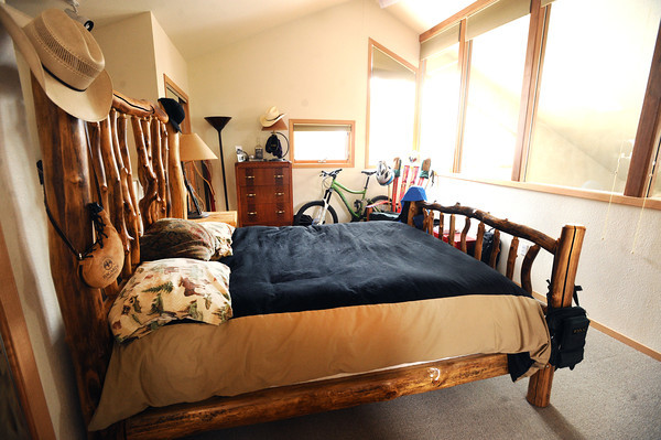 "Master bedroom in Keegan Pilling's Gold Run apartment in Boulder.<br /> For a video of Pilling showing off his nice living quarters go to  <a href=""http://www.coloradodaily.com"">http://www.coloradodaily.com</a><br /> Photo by Paul Aiken"