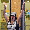 Ashleigh Wagner cheers for players playing air hockey games during Game Night at the Derda Recreation Center on Saturday.<br /> January 19, 2013<br /> staff photo/ David R. Jennings