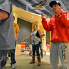 Ashleigh Wagner, center, dances with fellow participants during Game Night at the Derda Recreation Center on Saturday.<br /> January 19, 2013<br /> staff photo/ David R. Jennings