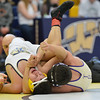HolyFamily's  Vincent Casados, right, wrestles Jesse Ortiz, Frederick in the 113 lb. championship match during the Gary Daum Classic, Boulder Valley Invitational Wrestling Tournament at Frederick High School on Saturday.<br /> January 12, 2013<br /> staff photo/ David R. Jennings