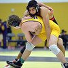 Fairview's Melvin Gutierrez, right, wrestles Boulder's Martin Selby in the 138lb. championship match during the Gary Daum Classic, Boulder Valley Invitational Wrestling Tournament at Frederick High School on Saturday.<br /> January 12, 2013<br /> staff photo/ David R. Jennings
