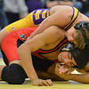 Boulder's Martin Selby, top, wrestles Fairview's Melvin Gutierrez in the 138lb. championship match during the Gary Daum Classic, Boulder Valley Invitational Wrestling Tournament at Frederick High School on Saturday.<br /> January 12, 2013<br /> staff photo/ David R. Jennings