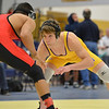 Boulder's Martin Selby, right, wrestles Fairview's Melvin Gutierrez in the 138lb. championship match during the Gary Daum Classic, Boulder Valley Invitational Wrestling Tournament at Frederick High School on Saturday.<br /> January 12, 2013<br /> staff photo/ David R. Jennings