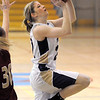 Holy Family's Stephanie Giltner goes for a layup against Faith Christian during Thursday's Class 3A District 4 Basketball Tournament at Manual High School in Denver.<br /> February 23, 2012<br /> staff photo/ David R. Jennings