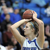 Broomfield's Meagan Prins shoots at the free throw line  Wheat Ridge's during Friday's state playoff game at Broomfield.<br /> February 24, 2012 <br /> staff photo/ David R. Jennings