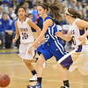 Broomfield's Brenna Chase dribbles the ball downcourt against Holy Family  during the cross town rivalry girls game at Holy Family on Friday.<br /> December 21, 2012<br /> staff photo/ David R. Jennings