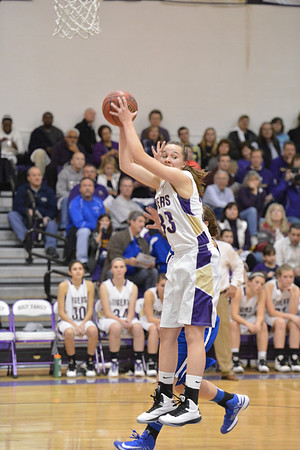 Holy Family's Claudia Pena catches the ball past Broomfield during the cross town rivalry girls game at Holy Family on Friday.<br /> December 21, 2012<br /> staff photo/ David R. Jennings