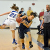Broomfield's Nicole Lehrer misses a pass to Legacy's  Mackenzie Neely during Saturday's girls basketball game at Broomfield.<br /> <br /> December 1, 2012<br /> staff photo/ David R. Jennings