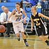Broomfield's Brenna Chase runs down a loose ball Thompson Valley's Josi Briggs during Friday's game at Broomfield.<br /> January 18, 2013<br /> staff photo/ David R. Jennings