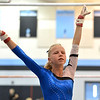 Broomfield's Heather Betz finished her routine on the uneven parallel bars during the Broomfield Invitational Gymnastics Meet at Mountain Range High School on Saturday.<br /> September 29, 2012<br /> staff photo/ David R. Jennings