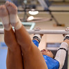 Broomfield'sGabby Maiden performs her routine on the uneven parallel bars during the Broomfield Invitational Gymnastics Meet at Mountain Range High School on Saturday.<br /> September 29, 2012<br /> staff photo/ David R. Jennings