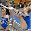 Broomfield's Kailey Licata performs her routine on the uneven parallel bars during the Broomfield Invitational Gymnastics Meet at Mountain Range High School on Saturday.<br /> September 29, 2012<br /> staff photo/ David R. Jennings