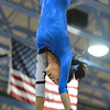 Broomfield's Maggie Boyer performs her routine on the uneven parallel bars during the Broomfield Invitational Gymnastics Meet at Mountain Range High School on Saturday.<br /> September 29, 2012<br /> staff photo/ David R. Jennings