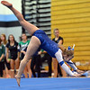 Broomfield's Kailey Licata  performs her floor routine during the Broomfield Invitational Gymnastics Meet at Mountain Range High School on Saturday.<br /> September 29, 2012<br /> staff photo/ David R. Jennings