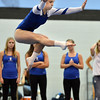 Broomfield's Melanie Stelling  performs her floor routine during the Broomfield Invitational Gymnastics Meet at Mountain Range High School on Saturday.<br /> September 29, 2012<br /> staff photo/ David R. Jennings