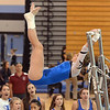 Broomfield's Melanie Stelling performs her routine on the uneven parallel bars during the Broomfield Invitational Gymnastics Meet at Mountain Range High School on Saturday.<br /> <br /> September 29, 2012<br /> staff photo/ David R. Jennings