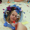 Joy Putnam, 10, looks at her self in the mirror she decorated during the girls self esteem workshop led by Gracie Forrey on Tuesday at Broomfield United Methodist Church.<br /> July 26, 2011<br /> staff photo/ David R. Jennings