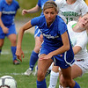 Broomfield's Chaya Ahrens goes after the ball against Niwot's Lauren Tatusko during Thursday's game at Niwot.<br /> <br /> April 19, 2012 <br /> staff photo/ David R. Jennings