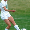 Niwot's Hannah Driscoll kicks the ball against Broomfieldduring Thursday's game at Niwot.<br /> <br /> April 19, 2012 <br /> staff photo/ David R. Jennings