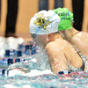 Thompson Valley's Mattea Wabeke swimming the breaststroke in the 200 medley relay during the state 4A girls swimming finals on Saturday at the Veterans Memorial Aquatic Center.<br /> February 9, 2013<br /> staff photo/ David R. Jennings