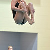 Thompson Valley's Erin Chavet performs a dive during the state 4A girls swimming finals on Saturday at the Veterans Memorial Aquatic Center.<br /> February 9, 2013<br /> staff photo/ David R. Jennings