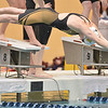 Thompson Valley's Kelly Sheldon begins her leg in the 200 medley relay during the state 4A girls swimming finals on Saturday at the Veterans Memorial Aquatic Center.<br /> February 9, 2013<br /> staff photo/ David R. Jennings