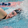 Skyline's Mackenzie Dwyer swimming in the 200 yard freestyle consolation heat during the state 4A girls swimming finals on Saturday at the Veterans Memorial Aquatic Center.<br /> February 9, 2013<br /> staff photo/ David R. Jennings
