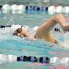 Thompson Valley's Eryn Eddy swimming  in the 200 yard freestyle during the state 4A girls swimming finals on Saturday at the Veterans Memorial Aquatic Center.<br /> February 9, 2013<br /> staff photo/ David R. Jennings