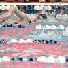Skyline's Mackenzie Dwyer swims the 500 yard freestyle during the state 4A girls swimming finals on Saturday at the Veterans Memorial Aquatic Center.<br /> February 9, 2013<br /> staff photo/ David R. Jennings