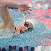 Thompson Valley's Allie Pfauth swimming in the 500 yard freestyle during the state 4A girls swimming finals on Saturday at the Veterans Memorial Aquatic Center.<br /> February 9, 2013<br /> staff photo/ David R. Jennings